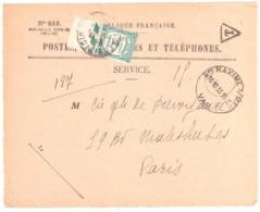 Ste MAXIME S/ MER Ob 1933 Horoplan Lautier A5 Devant Enveloppe 819 Recommandée Valeurs Non Recouvrées Paris Taxe 60 Preo - Manual Postmarks