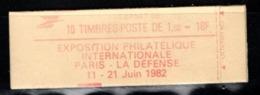 Carnet YT 2187 C3 LIBERTE DE DELACROIX 1,6frs Ouvert Mais Complet - Markenheftchen