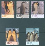 ROSS DEPENDENCY - 2004 - USED/OBLIT. - EMPEROR PENGUINS - Yv 95-99 -  Lot 20159 - Nuova Zelanda