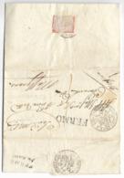DA MONTE LUPONE A SAN GIUSTO - 10.9.1836 - ALLARME COLERA !!!!!!!!!!!! - Italia