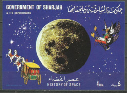 Sharjah,History Of Space 1970.,block-imperforated,MNH - Sharjah