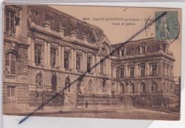 Saint Quentin (02) En Ruines - Palais De Justice / Court Of Justice - Saint Quentin