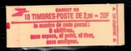Carnet YT 2274 C2 LIBERTE DE DELACROIX 2frs Ouvert Mais Complet - Uso Corrente