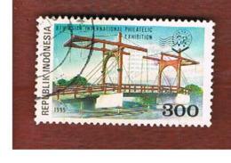 "INDONESIA   - SG 2186  -  1995 ""JAKARTA '95"" ASIAN STAMP EXN. DRAWBRIDGE - USED ° - Indonesia"