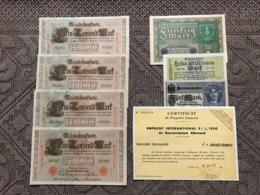ALLEMAGNE: Bon Lot De 7 Billets, 4 Billets De 1000 Mark, Les Numéros Se Suivent.......... - Germania