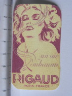 Carte Parfumée - RIGAUD - Paris France - (1277/29) - Perfume Cards