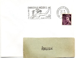 ARDENNES - Dépt N° 08 = CHARLEVILLE-MEZIERES 02 1969 =  FLAMME SECAP Illustrée ' FOIRE EXPOSITION' + MERCURE - Oblitérations Mécaniques (flammes)