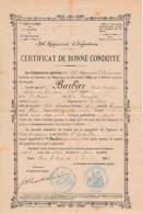 1895 BAR-LE-DUC - 94° Rgt D'Infanterie - CERTIFICAT De BONNE CONDUITE - 24° Brigade - Documents Historiques