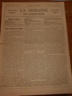 La Semaine Des Constructeurs. N°26. 29 Décembre 1877.L'Hôtel De Fieubet. Découpage Des Métaux. - Magazines - Before 1900