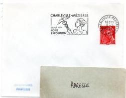 ARDENNES - Dépt N° 08 = CHARLEVILLE-MEZIERES 02 1967 =  FLAMME SECAP Illustrée ' FOIRE EXPOSITION' + MERCURE - Oblitérations Mécaniques (flammes)