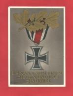 DR Ganzsache Einschreiben Von Wien Nach Dresden 20.4.1940 Es Kann Nur Einer Siegen...Eisernes Kreuz - Germany