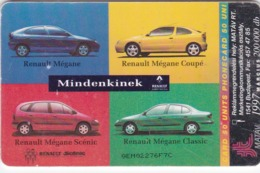 Hungary, S-1997-01A, Megane, Car, 2 Scans.    GEM1A (Symmetric Black) - Hungría