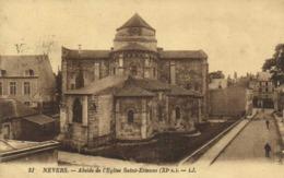 NEVERS  Abside De L' Eglise Saint Etienne RVTimbre 25c Cachet Flamme Daguin Nevers - Nevers