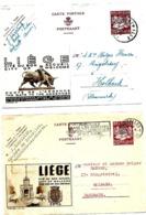 LE 0212.. PUBLIBELS POUR L' ETRANGER 03 Obl. WESTMALLE Et 09 Obl. BRUXELLES (légers Défauts) - Stamped Stationery