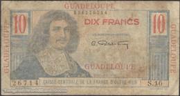 TWN - GUADELOUPE 32 - 10 Francs 1947-1949 S.10 - 26714 G/VG - Altri – America