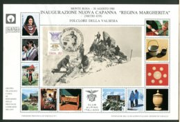 ITALIA - 1980 - INAUGURAZIONE CAPANNA REGINA MARGHERITA - VALSESIA - GATTO CAT - METEO  - CAI - CLUB ALPINO - 6. 1946-.. Repubblica