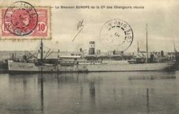 Le Steamer EUROPE  De La Cie Des Chargeurs Réunis + Beau Timbre 10 C Cote D'Ivoire  Cachet Abidjan - Comercio