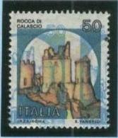 ITALIA -  Rocca Di Calascio £. 50 - VARIETA' - 6. 1946-.. Repubblica