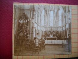 Chateauneuf Du Faou , 29 . Photo Stéreoscopique De N-D  Des Portes Interieur .  De 1937  . 2 Scans . - Luoghi