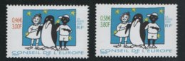 CONSEIL DE L'EUROPE - 2001 - BLANC ET NOIR PAR TOMI UNGERER - N° 122 ET 123 - - Mint/Hinged