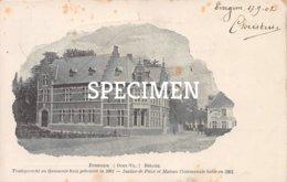 Vredegerecht En Gemeentehuis Gebouwd In 1901 - Evergem - Evergem