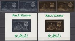 Ras Al Khaima 1972 Mi # АВ 765 AB Bl 135-36, Munich Summer Olympics (V) MNH OG - Verano 1972: Munich