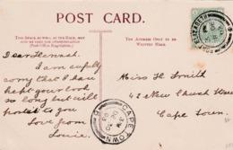 S.Africa, CoGH, St Georges Park, Port Elizabeth PPC Used, 1/2d, ,PORT ELIZABETH 28 DE 03 > CAPETOWN DE 30 03 - South Africa (...-1961)