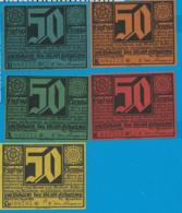 Notgeld    5 Stûck    Erfurt   1921 - Collections