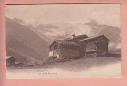 OUDE POSTKAART  - ZWITSERLAND - SCHWEIZ - SUISSE -       PRES  SAAS FEE -  1907 - VS Valais