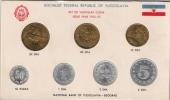 Yugoslavia 1953/55. Coin Set Mint Set Of The National Bank Of Yugoslavia - Joegoslavië