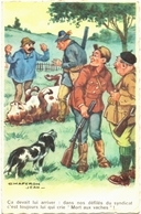CPSM HUMOUR CHASSE. ILLUSTRATION J. CHAPERON. CHASSEURS. VACHE. PAYSAN - Humor
