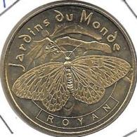Jeton Touristique 17 Royan Papillon Et Orchidée 2007 - Monnaie De Paris