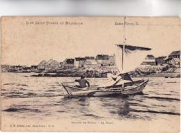 """CPA - ILES-SAINT-PIERRE-et-MIQUELON - Retour De Pêche """"LE WARY"""" - Carte  Typique 1900 Dos Simple Edition Bréhier N° 51 - Saint-Pierre-et-Miquelon"""