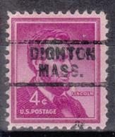 USA Precancel Vorausentwertung Preo, Locals Massachusetts, Dighton 729 - United States