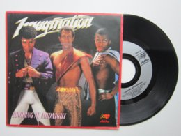 IMAGINATION / LOOKING AT MIDNIGHT / FOLLOW ME / Pochette +  Disque 45t SACEM 1983 - Vinyl-Schallplatten
