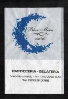 Serviette Papier Paper Napkin Tovagliolino Caffè Bar Blue Moon Cafè Italy Bar Pasticceria Gelateria - Serviettes Publicitaires