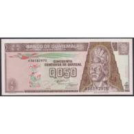 TWN - GUATEMALA 86b - ½ Quetzal 27.9.1994 A XXXXXXX E - Printer: CANADIAN BANK NOTE UNC - Guatemala