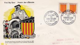 1046 De 1955 - Enveloppe 1er Jour  - Blason Du Roussillon - FDC