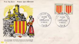 1044 De 1955 - Enveloppe 1er Jour  - Blason Du Comté De Foix - FDC