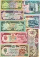Afghanistan Lot Set 8 Banknotes 1979-93 UNC .CV. - Afghanistan