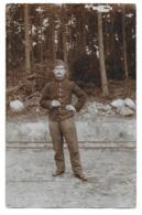 Soldat Armée Belge   Prisonnier Guerre 14-18 Soltau Photo Carte - Guerra, Militari