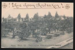 GENT  1914  15  DEUTSCHE KRIEGERGRÄBER  - 2 SCANS  FELDPOST - Gent