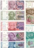 Argentina Lot Set 7 Banknotes Australes UNC .CV. - Argentina