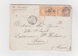 Variétés Sur Lettre Inconnue Des Catalogues Yvert Et Tellier Et Suarnet - 1870 Siège De Paris