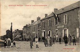 CPA MARTIGNE - Route De LAVAL Et La Gendarmerie (192679) - France