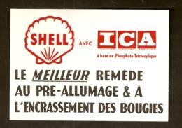 Carte Postale - Publicité Shell Avec ICA - Pubblicitari