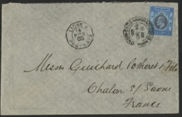 "1905. N° 67 Edouard VII + Cancellation ""VICTORIA HONG KONG 14/11/05"" / Cover To France + Maritime Octagonal Cancellation - Hong Kong (...-1997)"