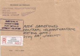 Nederland Netherlands 1991 Veldpost 35 Utrecht Military Forces Official Registered Cover - Periodo 1980 - ... (Beatrix)
