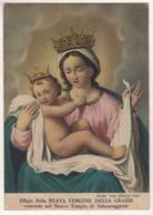 Santino Cromo Cartolina Non Viaggiata Madonna Delle Grazie Da Salsomaggiore - Parma