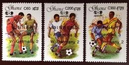 Ghana 1989 World Cup Winners Surcharge Set MNH - Ghana (1957-...)
